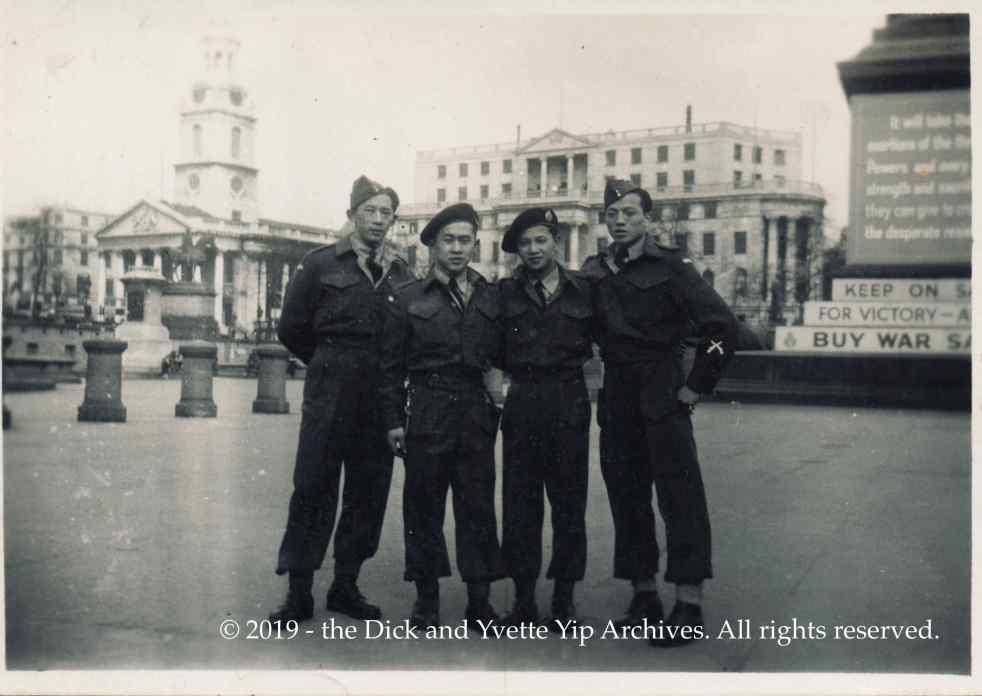 Dick in London Mar 1945 VE00752A