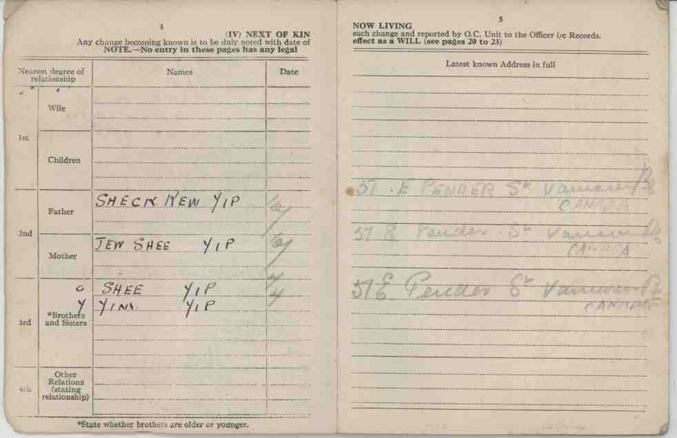 1945 - Soldiers paybook pgs 4 and 5 JPG 800 dpi D00996