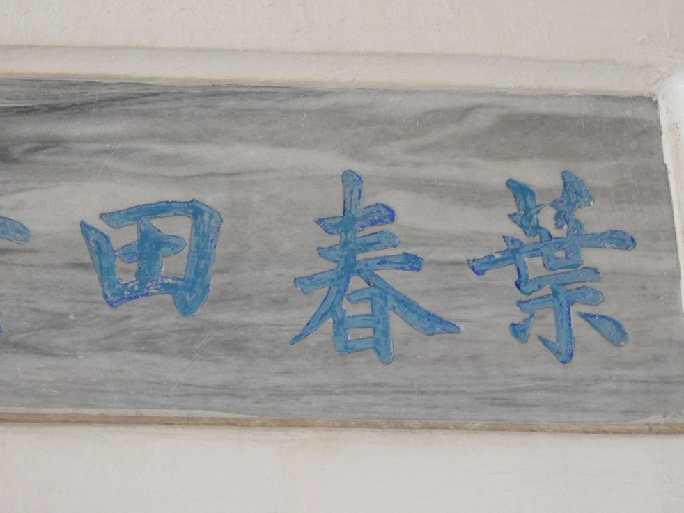 Chinese name of Yip Chun Tien