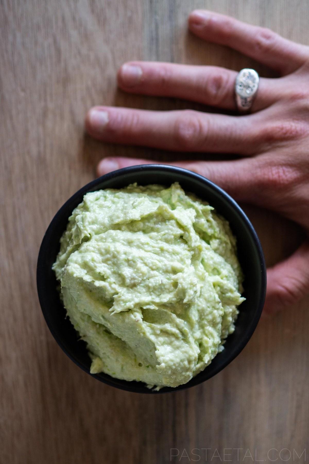 blended mascarpone and asparagus