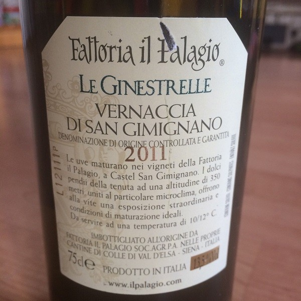 Wijn etiket met D.O.C.G certificering