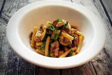 siktwinfood: Pasta mit Schweinefilet und Zucchini