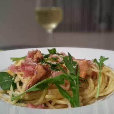 Pastamaniac: Spaghetti mit Pfifferlings-Carbonara