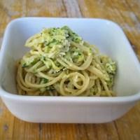 Spaghetti mit Zucchinicreme