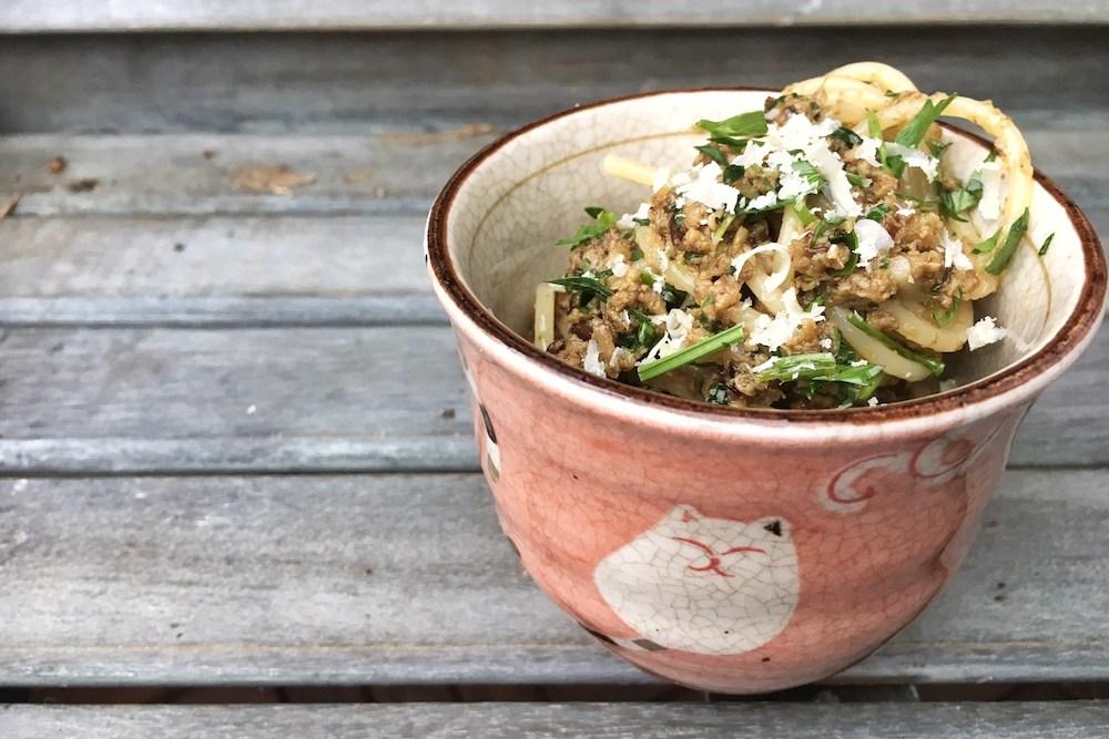 Spaghetti mit Steinpilzpesto - Pastamaniac
