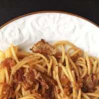 Feierabend-Pasta: Spaghetti mit Lardo und Rosmarin