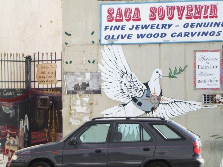La colomba di Bansky a Betlemme