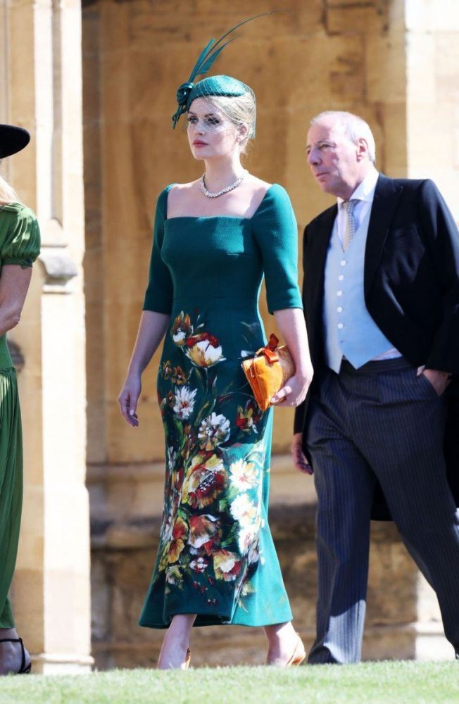 Lady Kitty Spencer al Royal wedding di Harry e Meghan