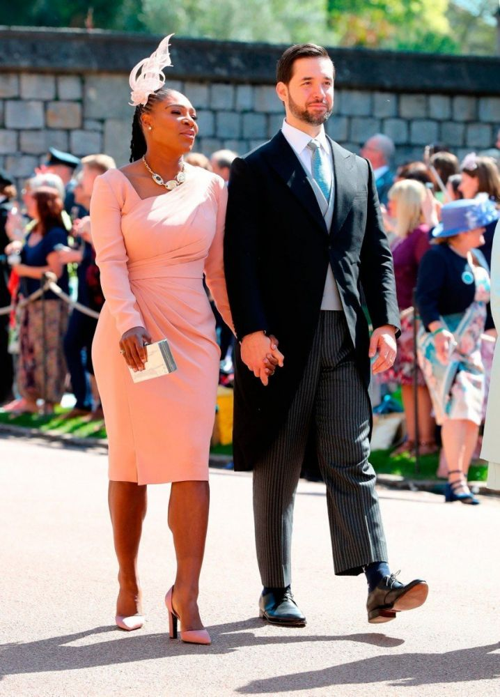 Serena Williams and Alexis Ohanian al Royal wedding di Harry e Meghan, foto Gareth Fuller/Press Association