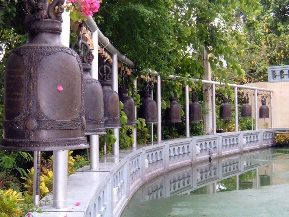 Le campane alla montagna dorata di Bangkok