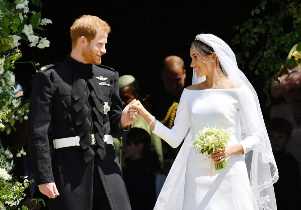 Una foto del matrimonio di Harry e Meghan