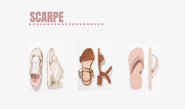Scarpe per creare un capsule wardrobe da viaggio