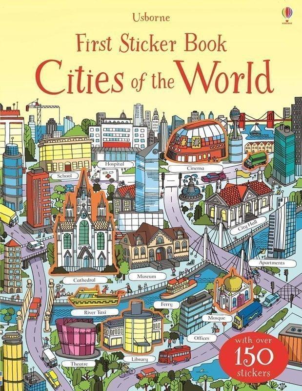 Copertina First Stickers Book Cities of the World edito da Usborne