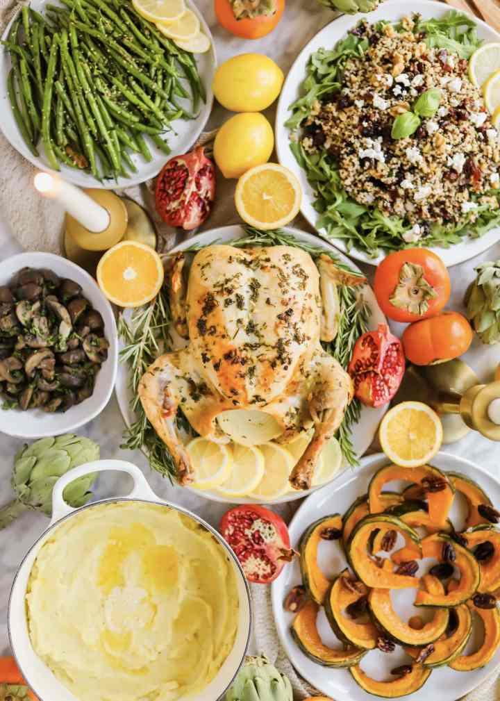 california thanksgiving spread