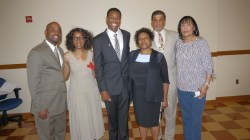 Dr. John Craig, President, PA Black Conference on Higher Education; Ms. Jean Arnold, ACT-SO Advisor, Secretary NAACP Chester Branch; ACT-SO Gold winner, Khiron Grasty, Chester Branch; Dr. Joan Duvall-Flynn, President NAACP PA, member PA Black Caucus on Higher Education; Mr. Kaaba Brunson, ACT-SO Chair NAACP PA, PA Black Caucus on Higher Education; Dr. Judy Thomas, PA Black Caucus on Higher Education