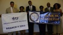 Mr. Kaaba Brunson, Dr. Joan Duvall Flynn, Khiron Grasty-2017 ACTSO Gold Winner - Oratory | Kathleen ColemanSmith, Philadelphia ACTSO Chairperson, Dr. John Craig