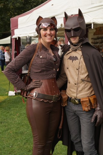 Steampunk Batman and Catwoman