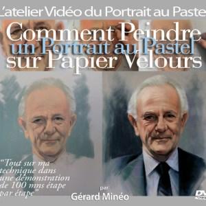 Comment peindre un portrait sur papier velours ( Vers. DVD)
