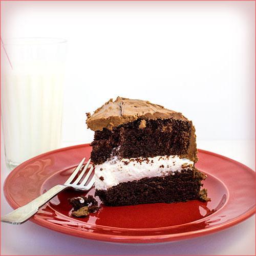 pastel de chocolate y vainilla