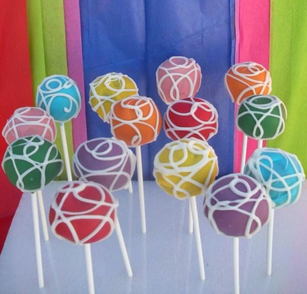 pop cakes de colores