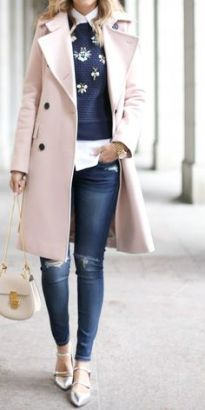 Pastels and stripes_ another pink trench coat