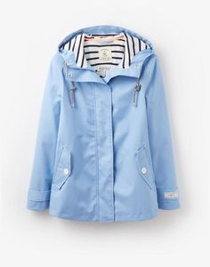 pastels and stripes_ light blue rain coat