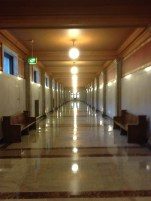 A hallway at the Federal Building