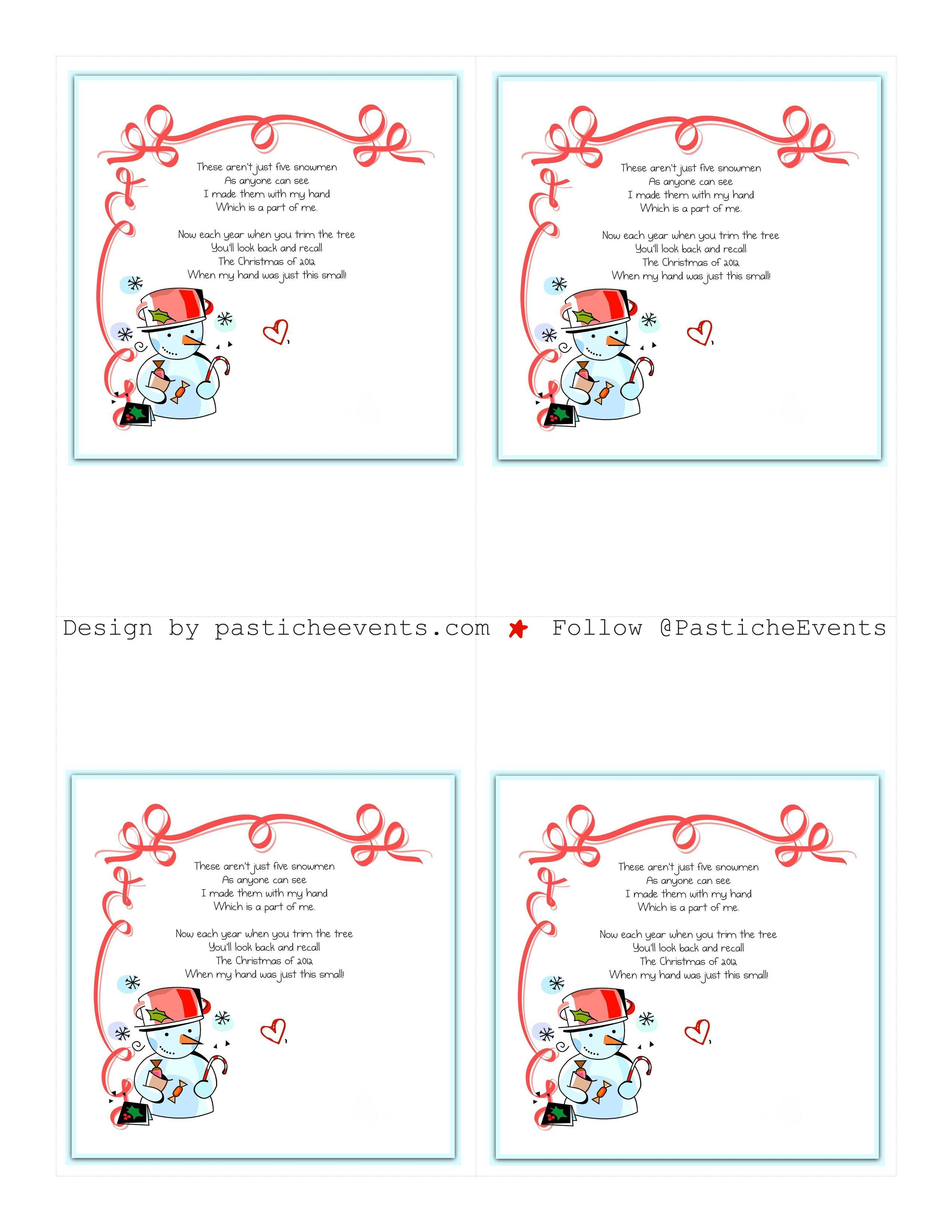 Search Results For Trinity Snowman Poem Printable Calendar