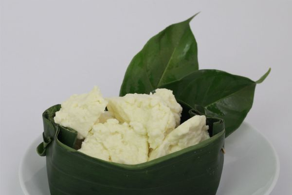 Feta in leaf boat picture
