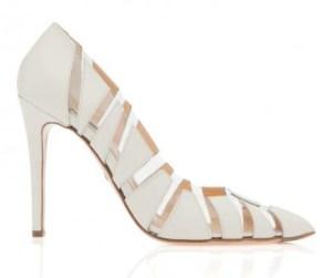 pantofi albi insertii transparente