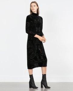 rochie catifea zara