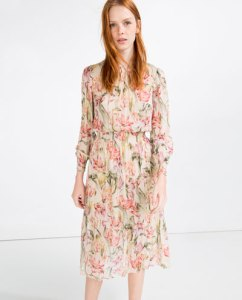 printed dress Zara