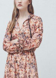 rochie imprimeu floral mango