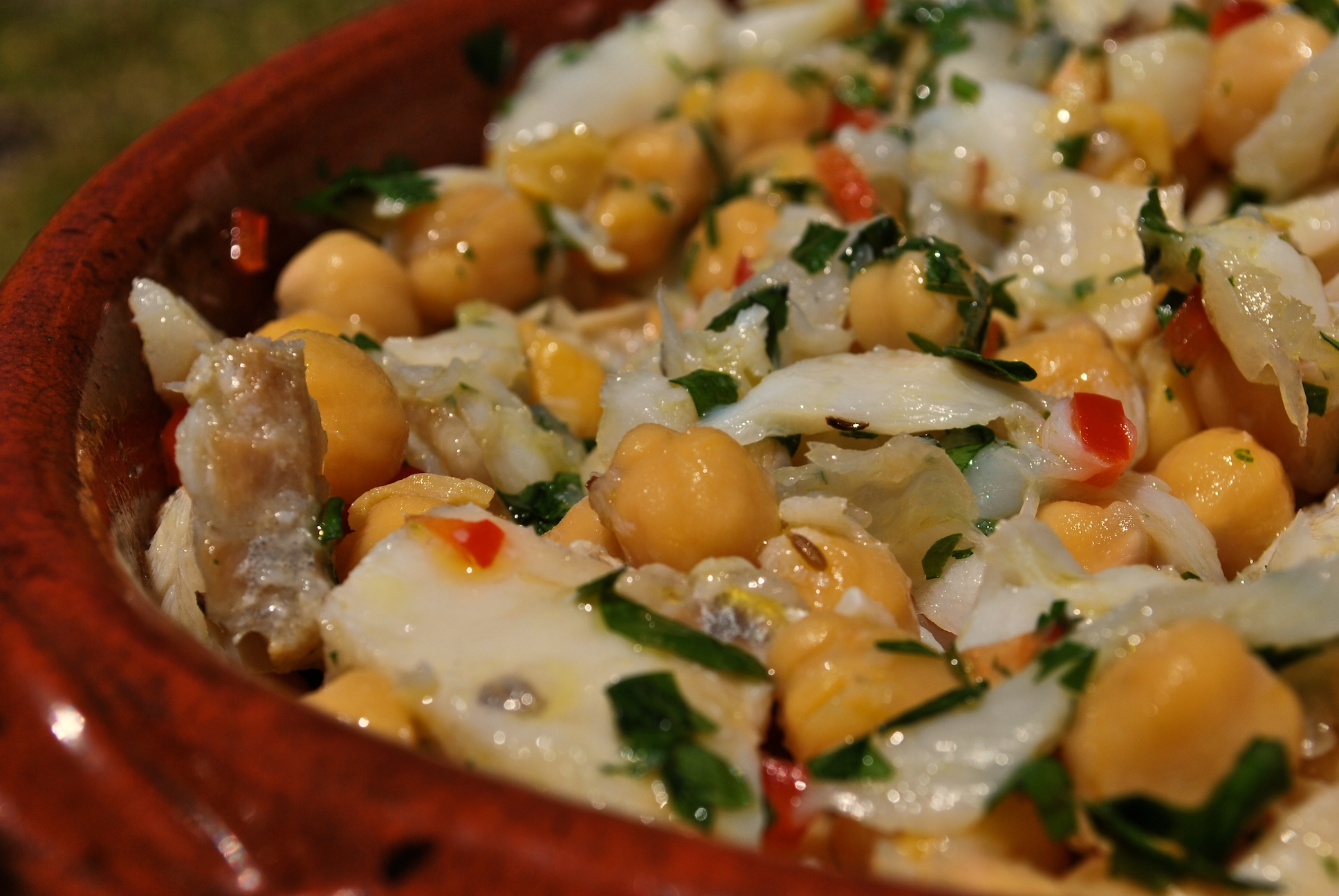 Salted Cod and Chick Pea Salad