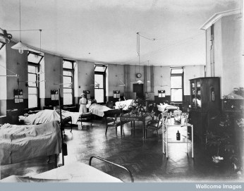 Great Northern Central Hospital, London, 1912 Credit: Wellcome Library, London. images@wellcome.ac.uk Copyright CC BY 4.0 http://creativecommons.org/licenses/by/4.0/