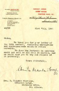 DKW Christies Letter