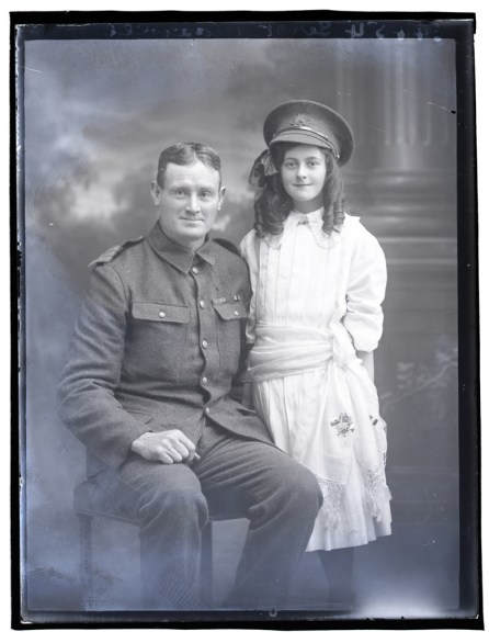 Sgt Maxwell & Daughter, c.1915.