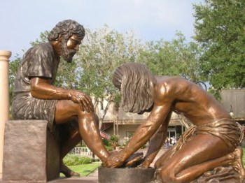 foot washing bronze