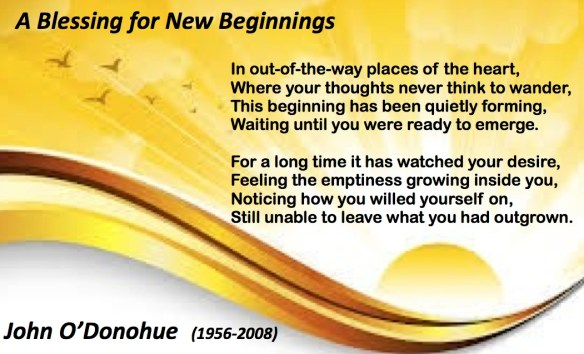 Blessing for New Beginnings O'Donohue pastordawn