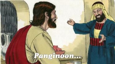 """Sa loob ng bahay niya ay tumayo si Zaqueo at sinabi, """"Panginoon, ibibigay ko po sa mga mahihirap ang kalahati ng kayamanan ko. At kung may nadaya akong sinuman, babayaran ko ng apat na beses ang kinuha ko sa kanya."""""""