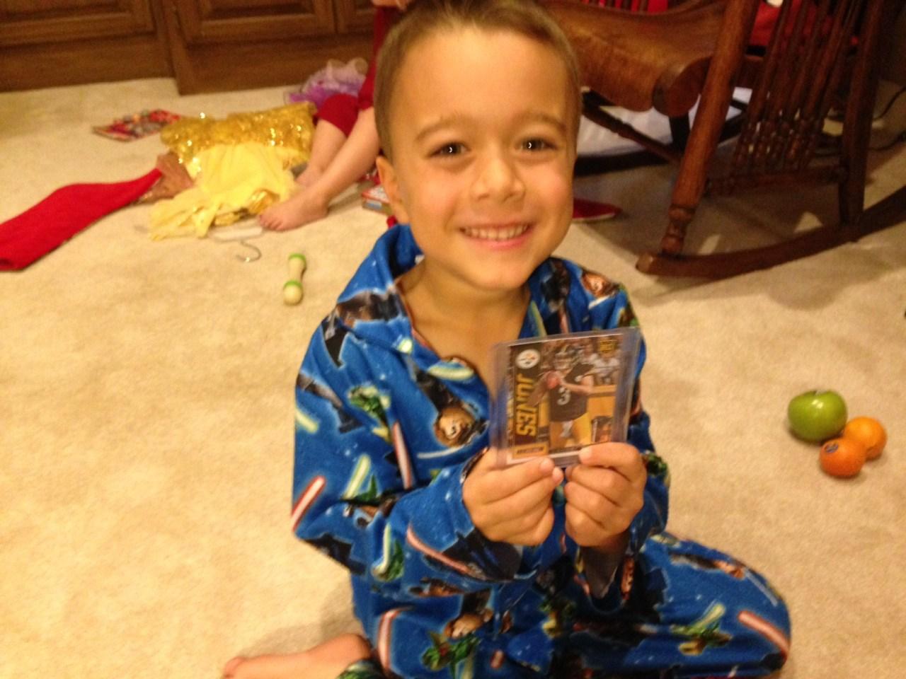 Josh with his new Landry Jones Rookie Card.