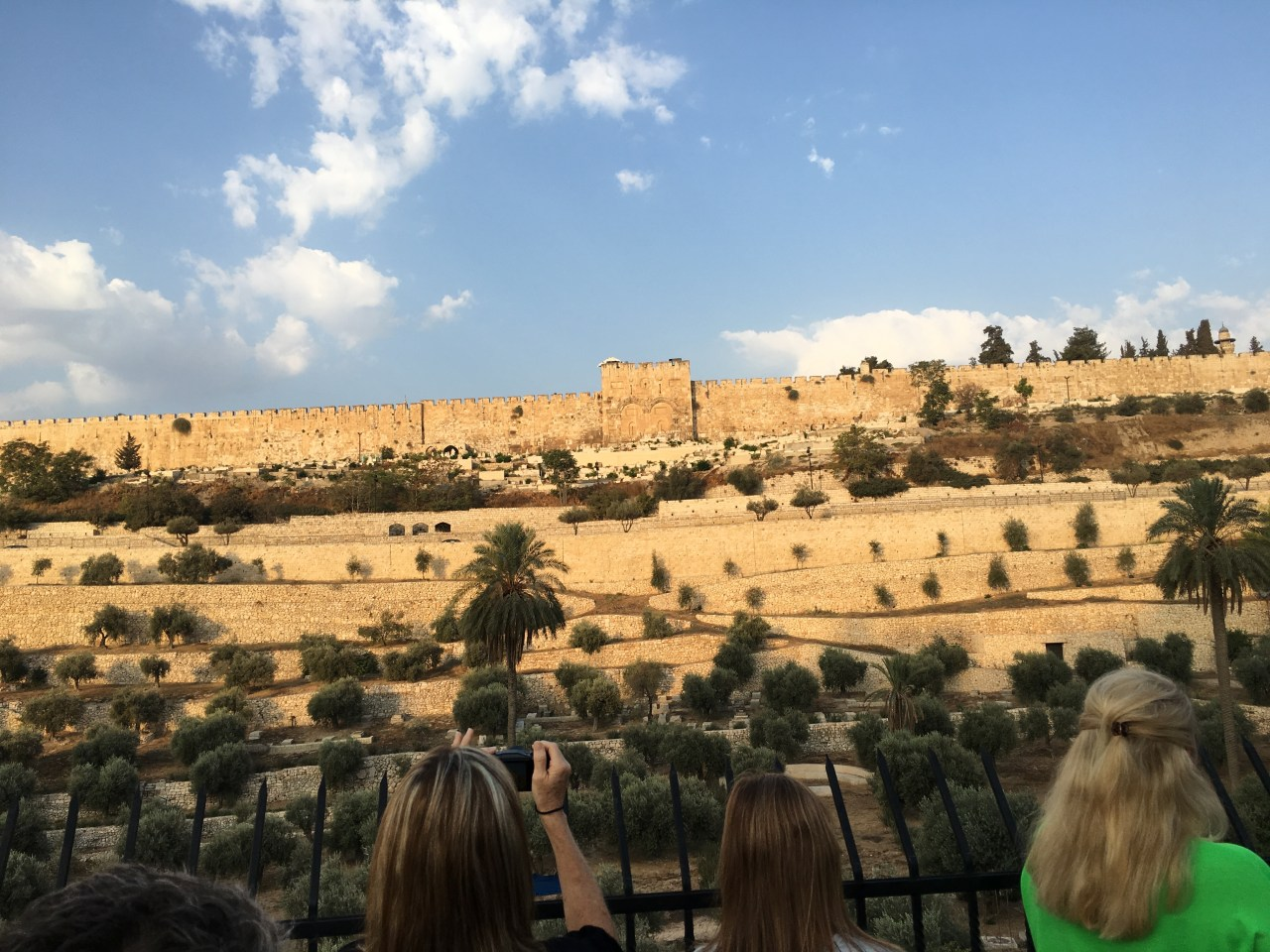 Looking at the Beautiful Gate from the Mount of Olives.