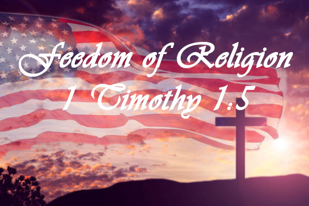 American Flag Background with cross
