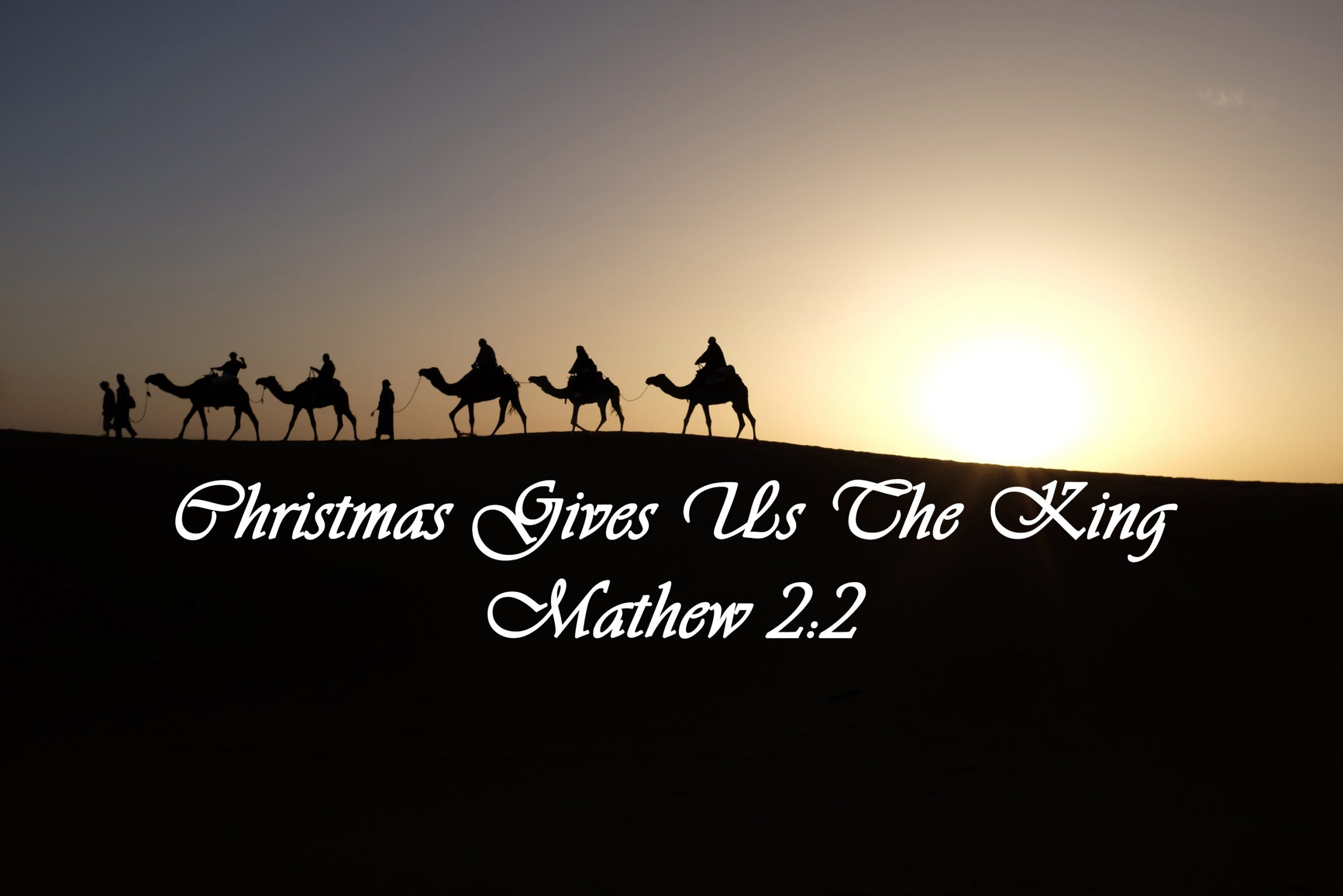 Wise men going to Bethlehem