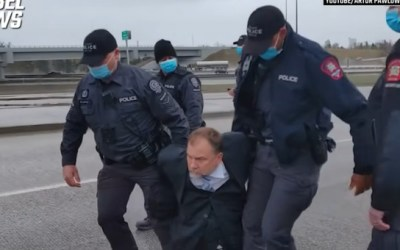 Pastor swarmed and arrested by police