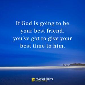 give god