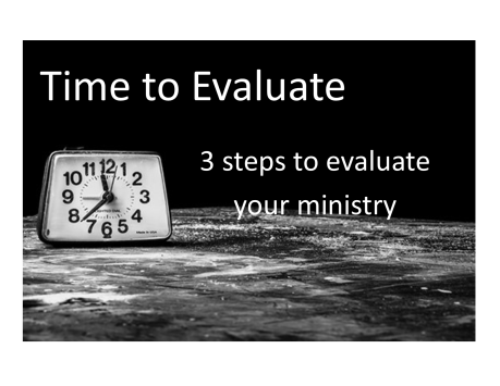 evaluate your ministry