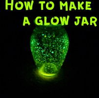 directions on how to make a glow jar and includes family devotion on how to being the light of the world