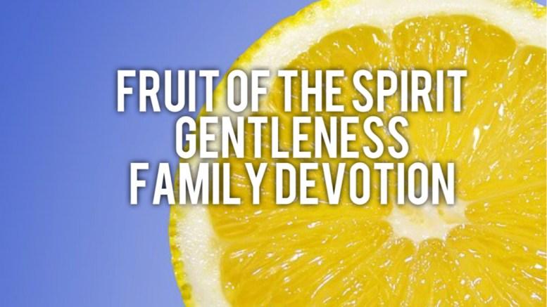 Fruit of the Spirit GENTLENESS : Family Devotion ...