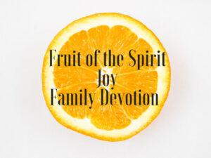 fruit of the spirit joy